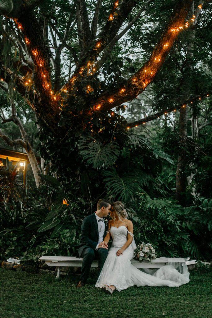 Wedding Couple at Bundaleer Rainforest Gardens