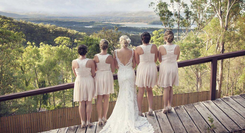 moreton bay weddings looking at view