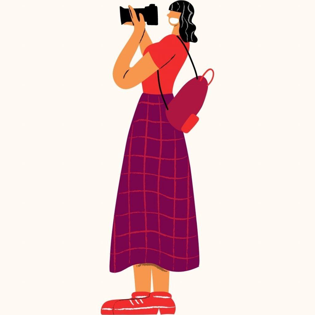 Female Wedding Videographer Graphic