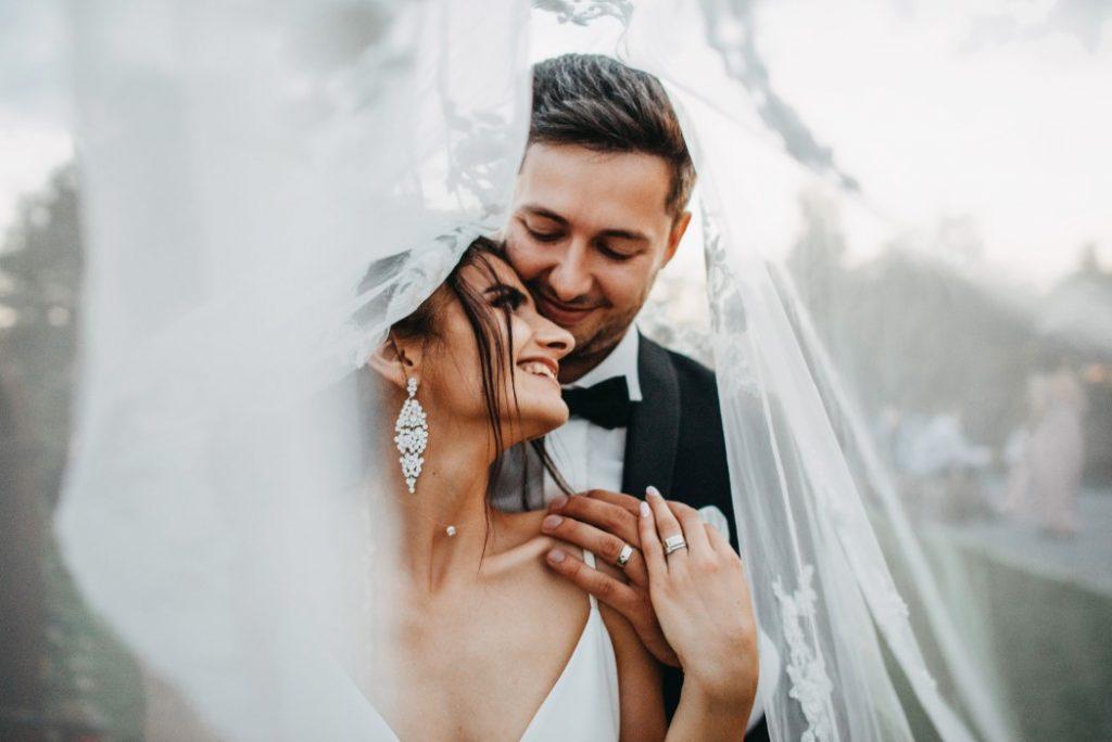 intimate wedding couple
