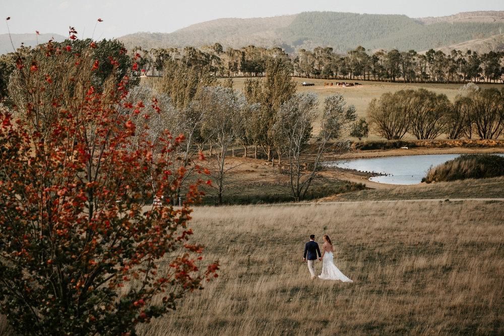 wedding video drone footage